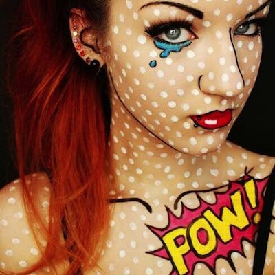 Pop art costume, flawlessly executed. Looks like a photoshop job!  #costume #popart