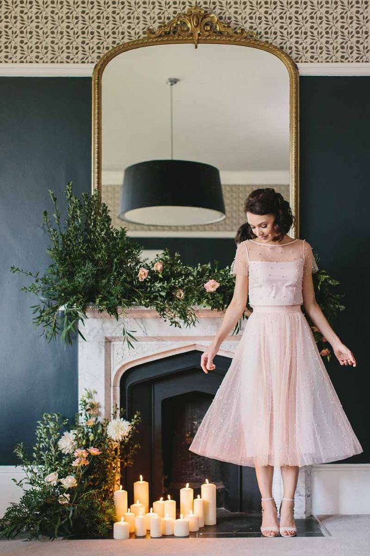 Coast Bridesmaid Dress Shoot 2018 – Passion for Flowers, Wedding fireplace decoration organic garlands and candles www.passionforflowers.net #wedding #weddingflowers #weddingflorist #weddinguk #weddingideas #weddingdecor