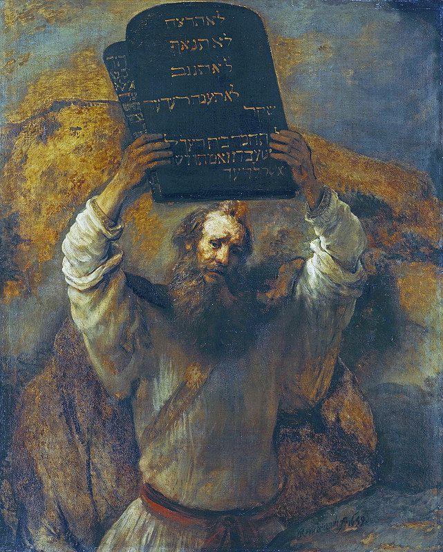 Rembrandt - Moses with the Ten Commandments  Rembrandt - Moses with the Ten Commandments [1659] Moses mit den Zehn Geboten Berlin Gemälde-Galerie