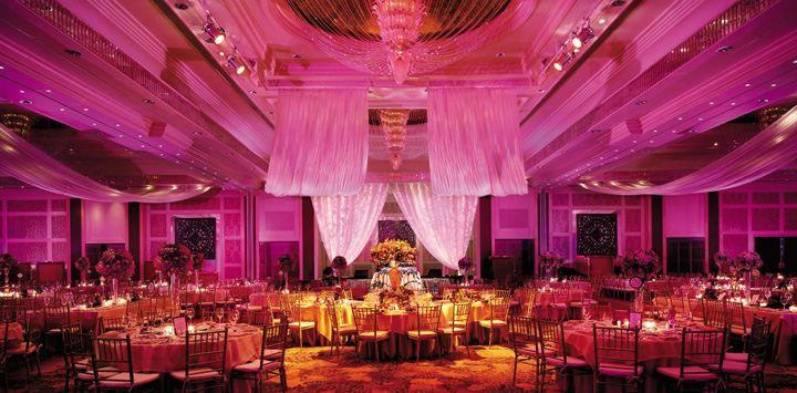 Ballroom set-up at Makati Shangri-La, Manila.