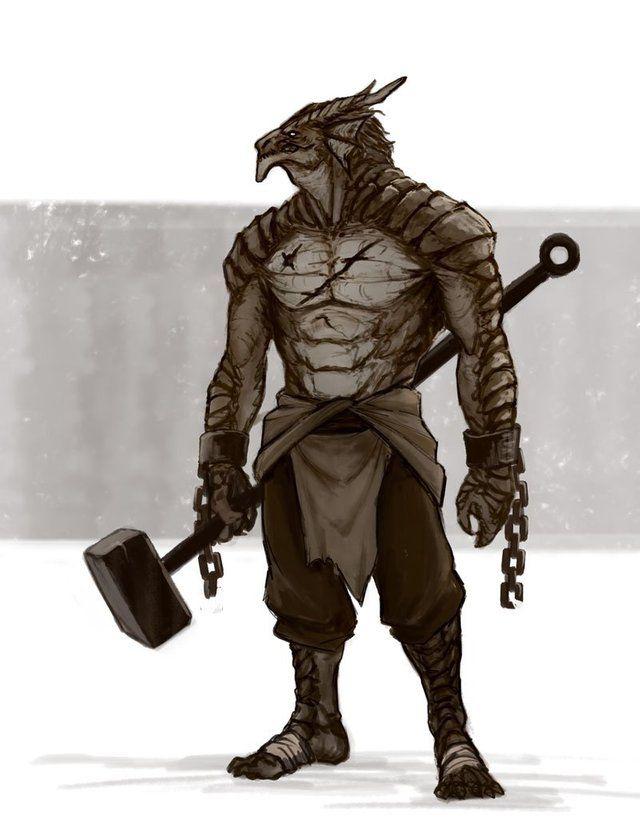 Art Stonebreaker, Dragonborn Paladin : DnD | Dungeons and dragons characters, Fantasy ...
