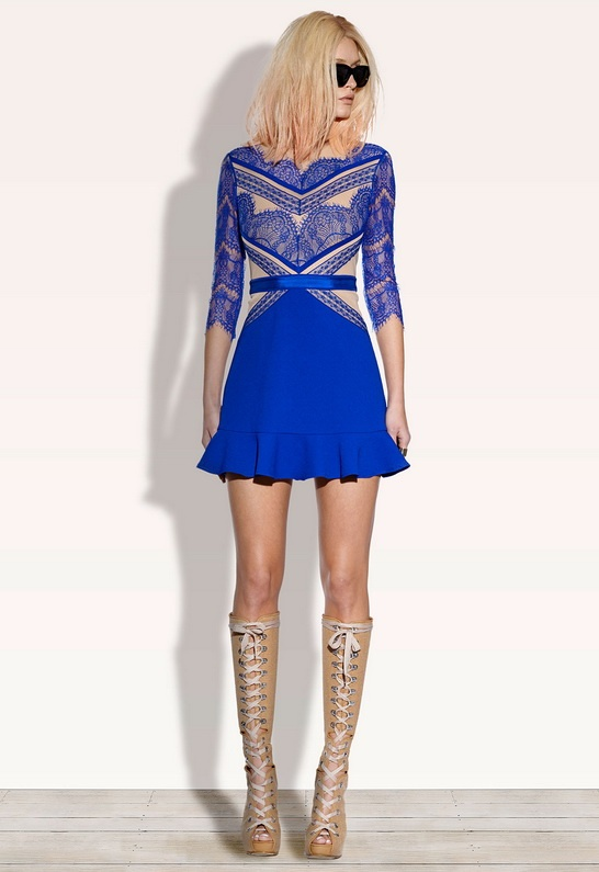 Three Floor royal blue China dress- falling madly in love with this brand by the second!