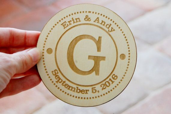 Wedding Favors Coaster Personalized Wedding Favors Rustic, Custom Wedding Favor…