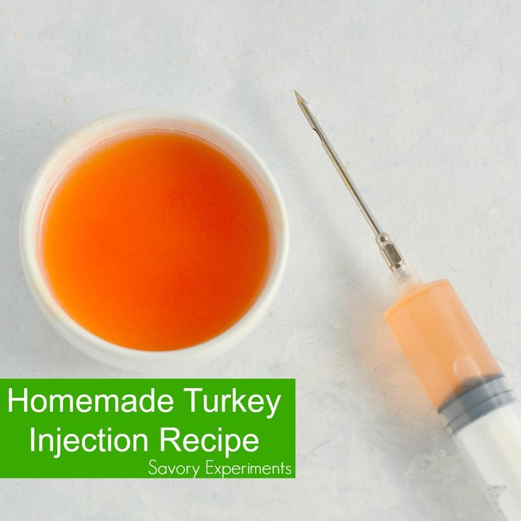 This Homemade Turkey Injection Recipe is super easy, taking only 5 minutes for a flavorful and slightly sweet bird just like the Cajun injector they sell at the store!