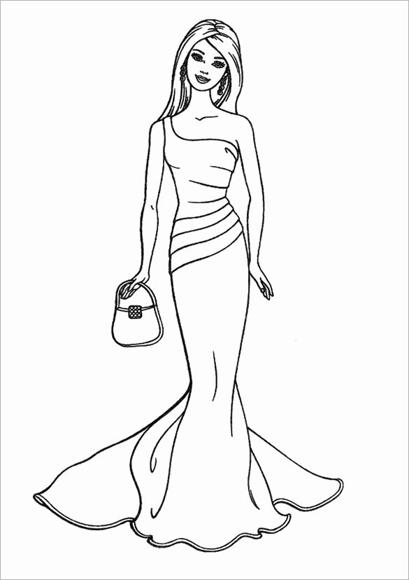 Barbie Princess Coloring Page Elegant Barbie Coloring Pages Pdf Coloring Home In 2020 Princess Coloring Pages Coloring Pages Princess Coloring