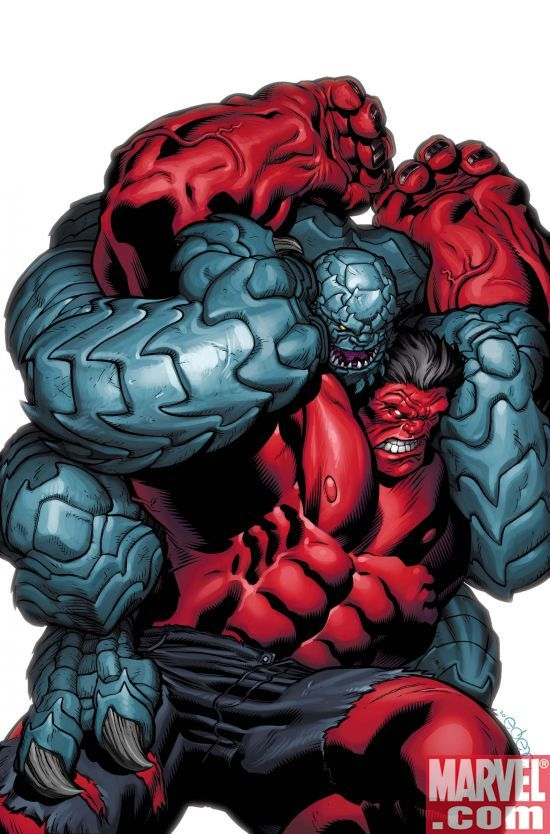 Red Hulk vs. Abomination by Ed McGuinness
