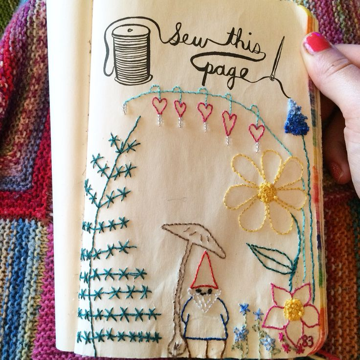 50 best My Completed Wreck this Journal Pages images on ...  Wreck This Journal Sew This Page