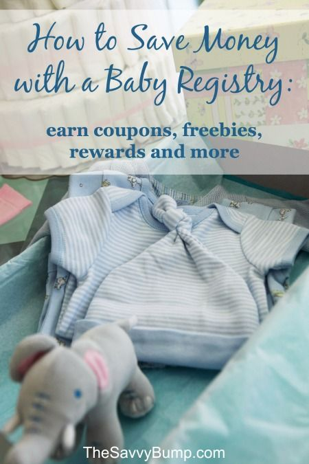 Learn how to save money with a baby registry! Baby registries come with coupons, freebies, rewards and more.