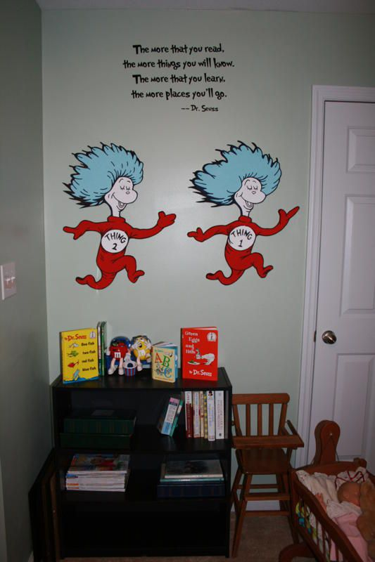 This is a hand painted wallpaper all murals are painted for Dr seuss wall mural