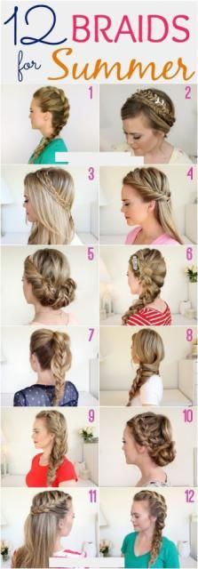 12 Braids For Summer #Beauty #Trusper #Tip