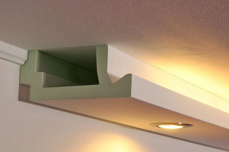 LED Stuckleisten, Lichtprofile für indirekte Beleuchtung aus Hartschaum WDML-200A-PR