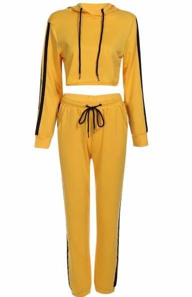 Just In Yellow Stripe Cro... Shop Now! http://www.shopelettra.com/products/yellow-stripe-cropped-matching-sweat-suit?utm_campaign=social_autopilot&utm_source=pin&utm_medium=pin