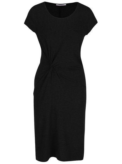 Černé šaty s krátkým rukávem ONLY Moster