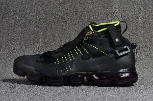 0dc11951d79a5 Mens Nike Air Vapormax Flyknit Zipper Black Lime Green 899473 003 Running Shoes  Nike Air Vapormax