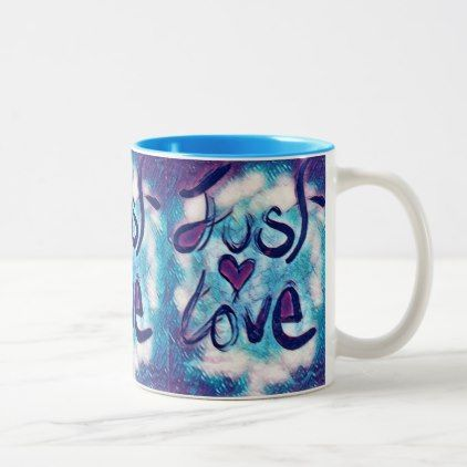 #Just Love Two-Tone Coffee Mug - #drinkware #cool #special