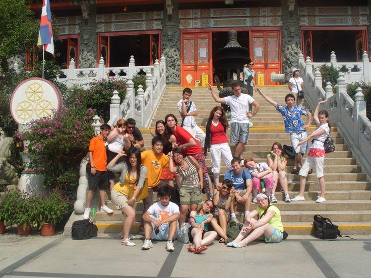 2008 - Irish students on the EIL Hong Kong Exchange programme in Hong Kong. #50EILIRL