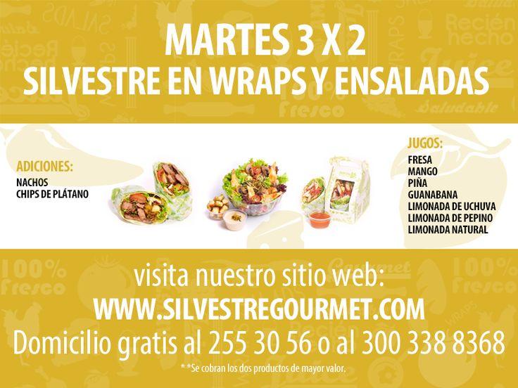 Los martes en Silvestre son para compartir! Disfruta nuestra promo 3x2 Hhasta las 8:30 p.m.