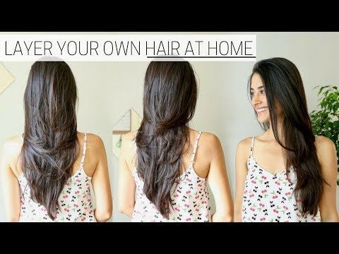 The Best Hair Hack ♥ How to Cut & Layer Your Hair at Home - YouTube