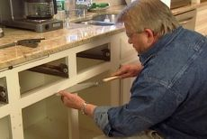 "Great ""How To"" videos to create pull-out shelves and taking out mullion and reinforcing cabinet"