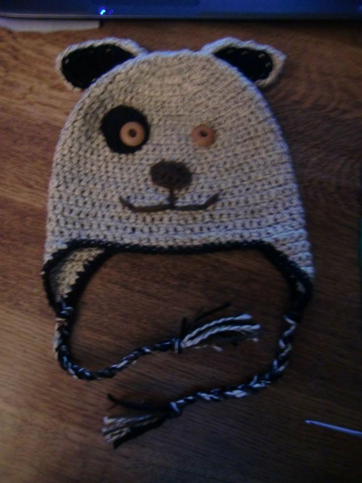 hondje gehaakt naar een patroon van Crochet-repeat crafter me