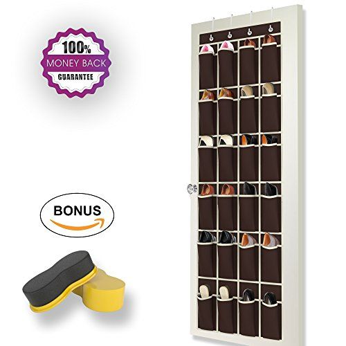 Coffee Brown Over the Door Shoe Rack by Organized Boss  Complete Bundle for Hanging Closet Kids Storage  Shoe Organizer Shoe Sponge and Free Organization 101 Ebook *** Want to know more, click on the image.