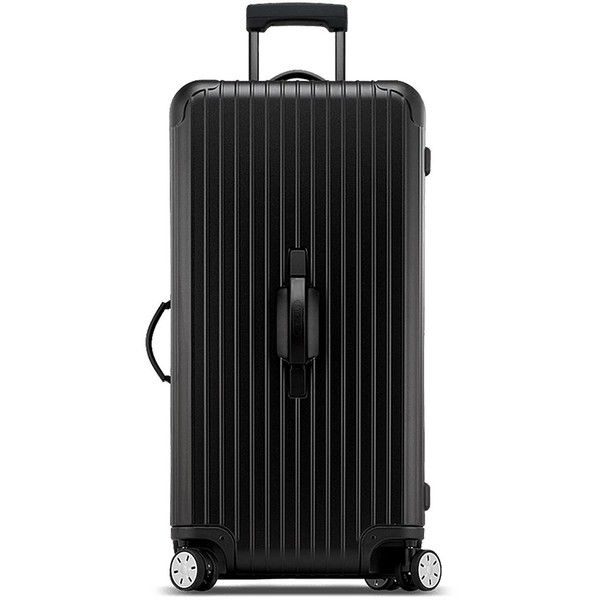 Rimowa Salsa Deluxe Cabin Multi-Wheel Suitcase ($725) ❤ liked on Polyvore featuring men's fashion, men's bags, mens bag, mens suitcase, mens travel bag and mens travel suitcase