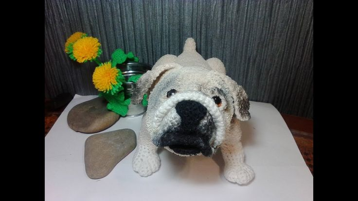 Английский бульдог или Мопс,ч.1.  English Bulldog оr Pug, р.1.  Amigurum...