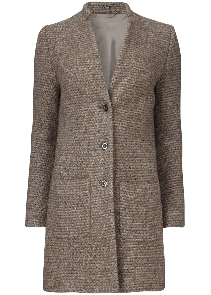 Gustav Jakke gråbrun 20301 Woolen Cardi Coat animal fur – Acorns