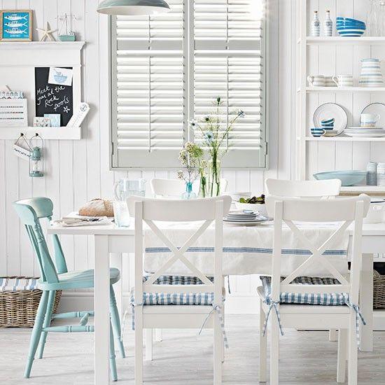 White dining room/ seaside