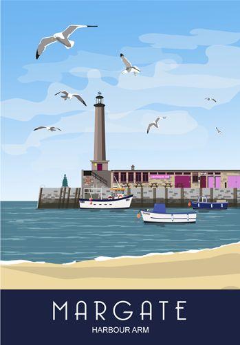 Margate Harbour Arm print