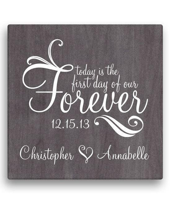 'First Day of Our Forever' Personalized Wrapped Canvas
