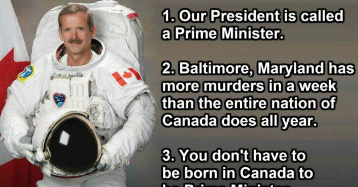 31 things Americans should know about Canada.