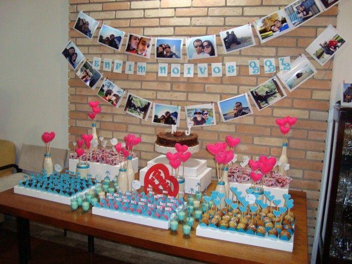 pra quem quer fazer uma festinha simples de noivado, por exemplo ;)