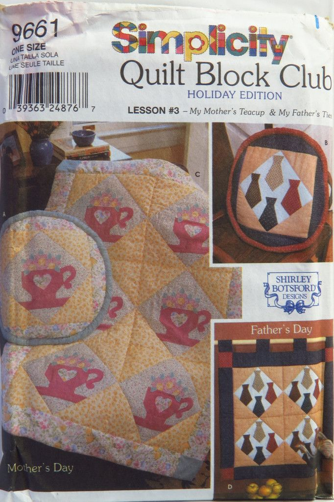 Simplicity 9661 Quilt Blocks