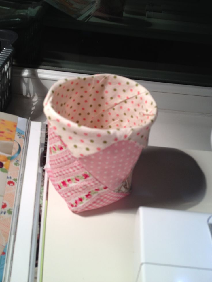 Little patch work bin for rubbish