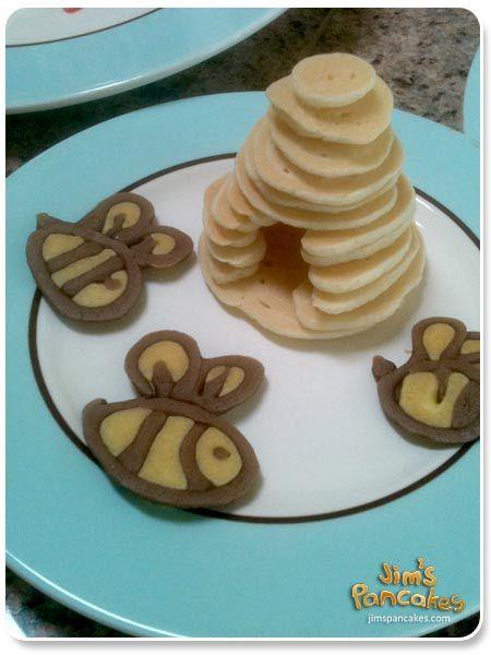 Fun FoodBees Hives, Breakfast Ideas, Fun Food, Beehive Pancakes, Bee Hives, Fun Breakfast, Bees Pancakes, Honey Bees, Pancakes Art