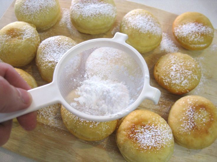 Slovak Recipes: Homemade Donuts (Šišky).  Will have to use gluten-free flour and use sweetener rather than sugar and sugar-free jam