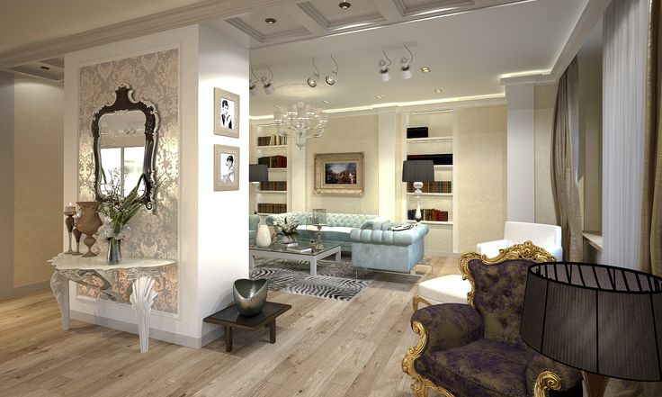 Выставочный зал (мебель для зоны отдыха) - Дизайн проект интерьера магазина классической мебели. Архитектор-дизайнер Инна Войтенко.