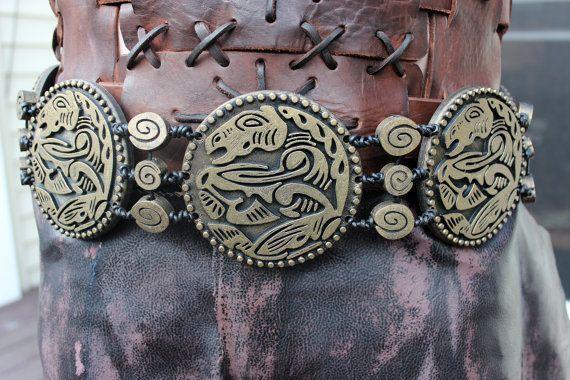 Khal Drogo's Horse Medallion Wedding Belt | Belt, Wedding ...