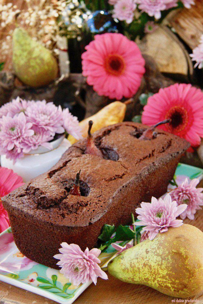 Tarta de chocolate con peras al vino / http://midulcepreferido.com