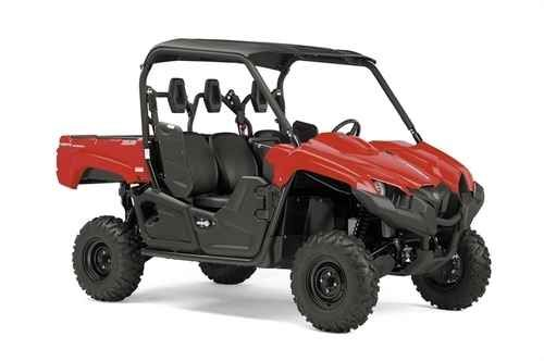 New 2016 Yamaha Viking Red ATVs For Sale in Louisiana. 2016 Yamaha Viking Red, SMOOTH AND QUIET MEET HARD WORKING. A quieter, smoother cabin combined with class leading off road capability. Translation: Chore tackling comfort for three! New for 2016: Quieter, Smoother Cabin: New rubber damper plates, a more rigid chassis, additional sound damping material and an all-new cylinder head mount reduce vibration and quiet the cabin for a more relaxing ride quality at all engine speeds. More Rigid…