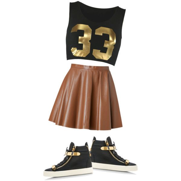 A fashion look from November 2014 featuring RED Valentino mini skirts and Giuseppe Zanotti sneakers. Browse and shop related looks.