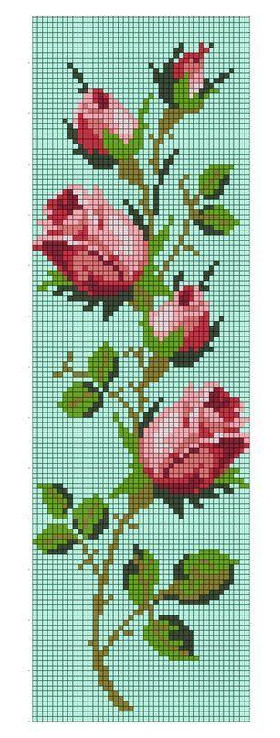 Roses cross stitch.