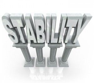 Stability is part of something strange and wonderful that occurs within each of us, but which each of defines as something completely different.