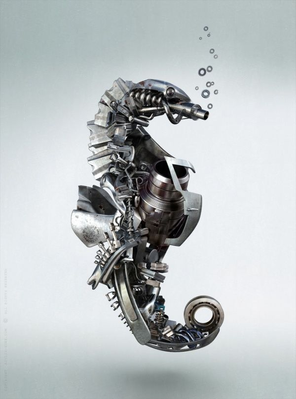 Steampunk Sea Horse***Research for possible future project.