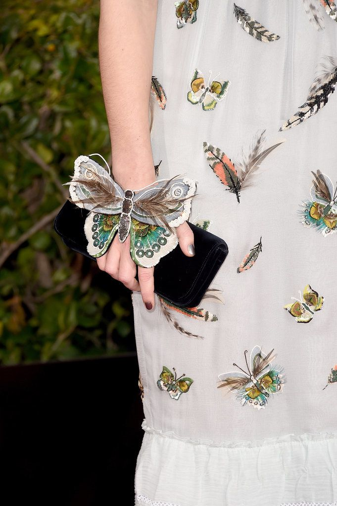 Keira Knightley's dress was lovely, but it's that butterfly-adorned clutch that really got our attention
