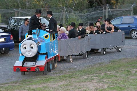 Thomas takes the guests