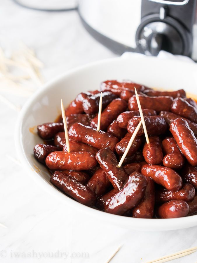 These Slow Cooker Raspberry Chipotle Little Smokies are sweet and smoky with just a hint of spice and only 3 simple ingredients! Please tell me I'm not the only one who is obsessed with little smok...