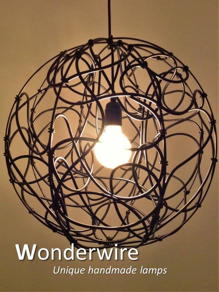 Een persoonlijke favoriet uit mijn Etsy shop https://www.etsy.com/listing/288656337/the-wire-45cm-large-pendant-lamp