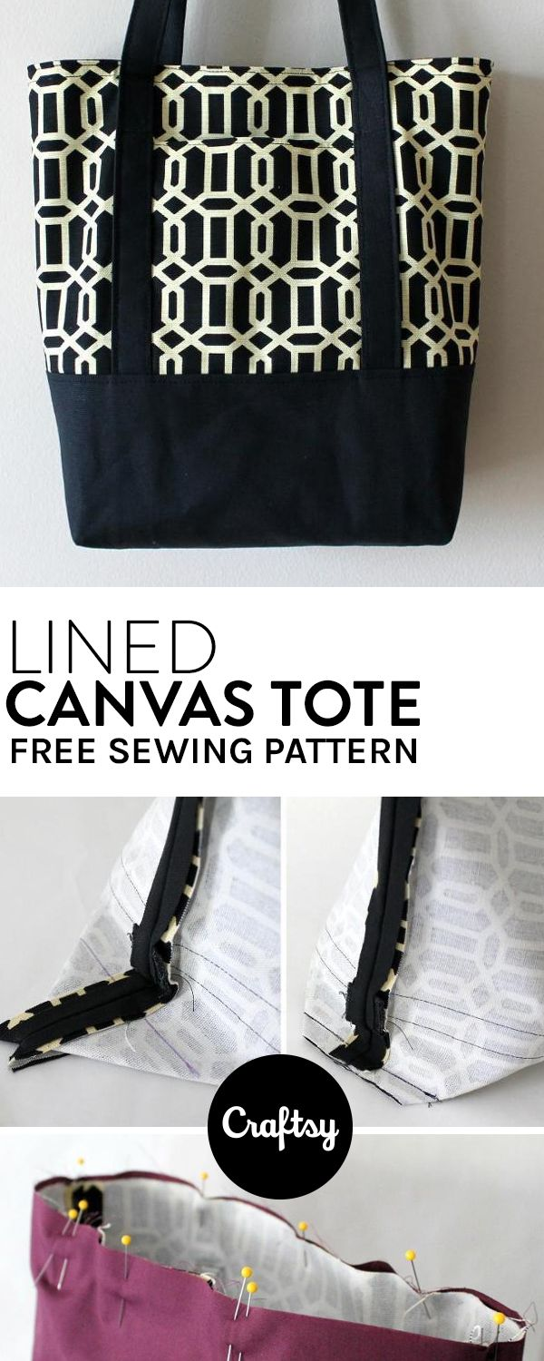 The perfect tote bag pattern to bring with you on errands. Get it for free at Craftsy!